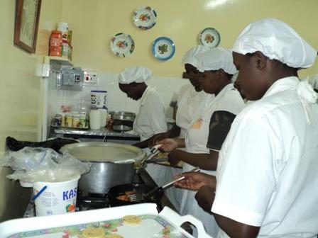 Kimlea students cooking